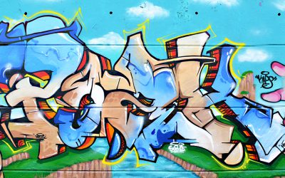 Fresque graffiti DBZ
