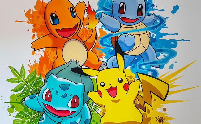 Bureau graffiti Pokemon